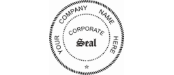 "POCKET SEAL CORPORATE - Pocket Seal (1.75"") Corporate Seal"